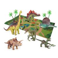 9pcs/set Dinosaur Model with Park Map Non toxic PVC Simulation Dinosaur Educational Toy Birthday/Christmas Gift for Kids