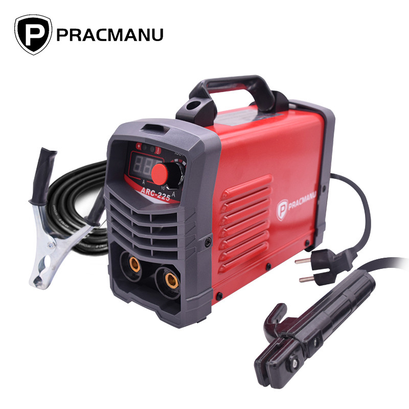 PRACMANU 225A Inverter Arc Electric Welding Machine 220V MMA Welder for DIY Welding Working and Electric Working
