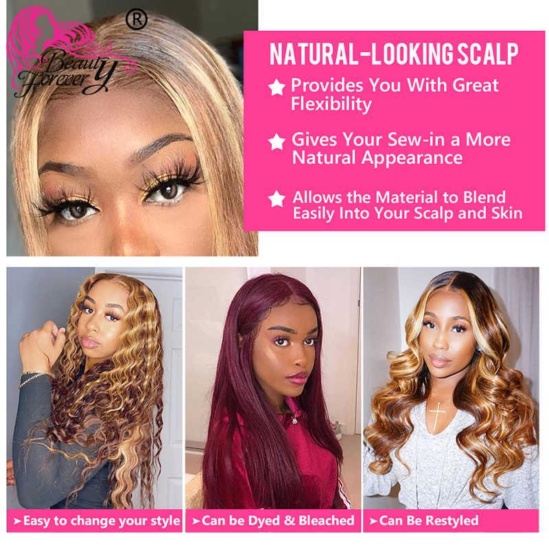 Beauty Blijvend 13X4 Straight Honing Blonde Ombre Kleur Hoogtepunt 150% Lace Front Menselijk Haar Pruiken Remy Braziliaanse Pruiken t4/12