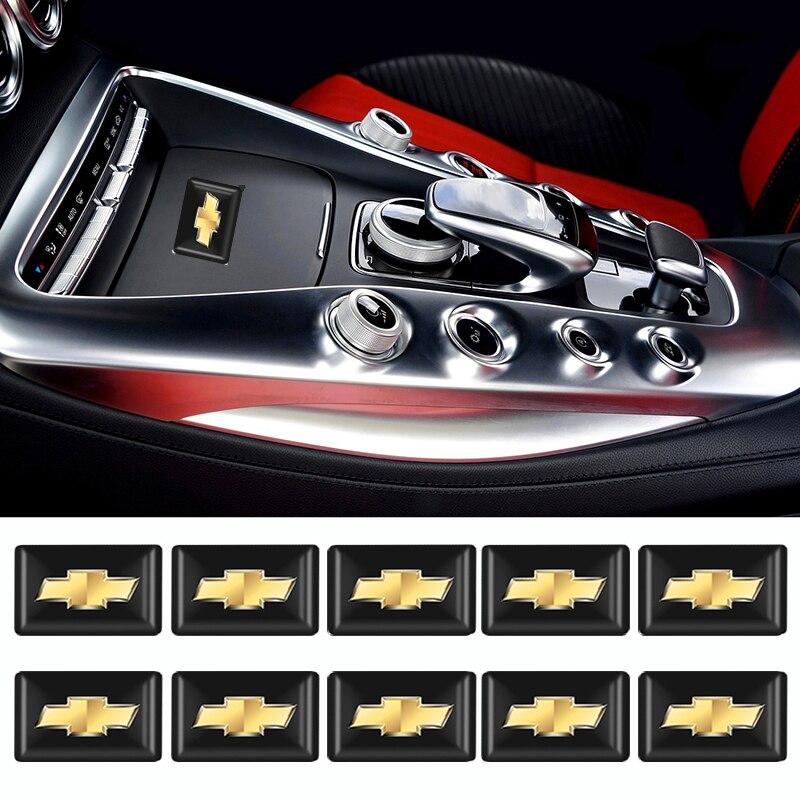 10x araba styling 3D süslemeleri çıkartmalar çıkartmaları amblem rozeti Chevrolet niva için aveo t250 t300 epica lanos kobalt otomatik aksesuar