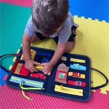 Felt-Kit Game-Board Montessori Handmade DIY for Kids Self-Care Ability Children Early-Educational