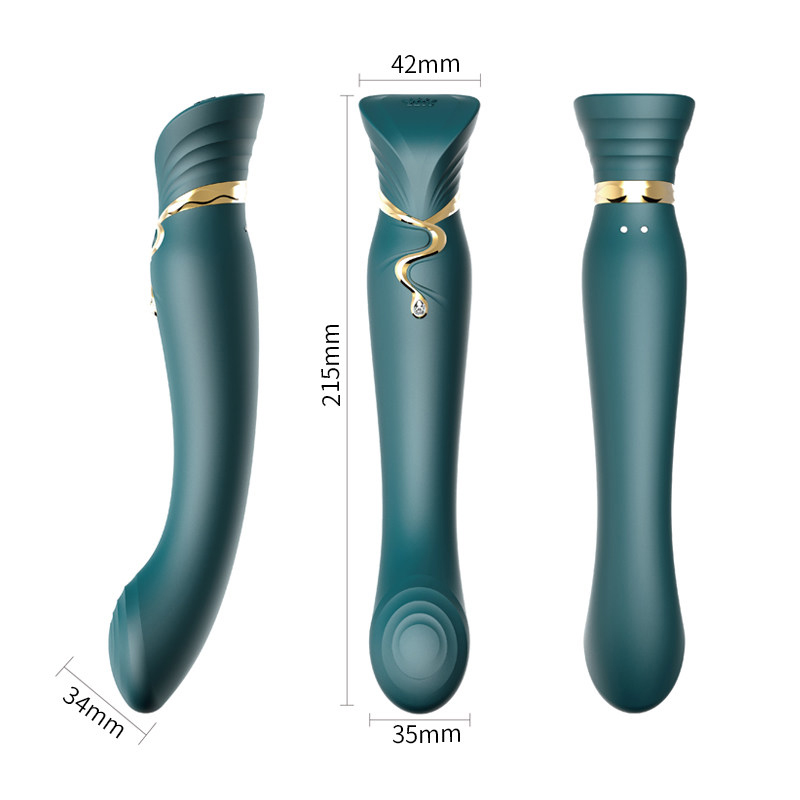ZALO Queen G point vibrator dildo silicone magic wand woman sex toy sucking clitoris stimulation vibrator mobile phone control