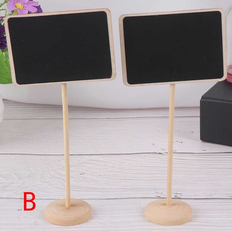 Rectangle Mini Small Wooden Chalk Blackboard Wedding Kitchen Restaurant Signs Chalkboard Writing Notice Message Paint Wood Board