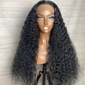 Melodie, 26, 28, 30 дюймов, глубокая волна, парик, фронтальный парик, человеческие волосы, кудрявые парики, бразильские волосы, 4x4, кружевной передний...
