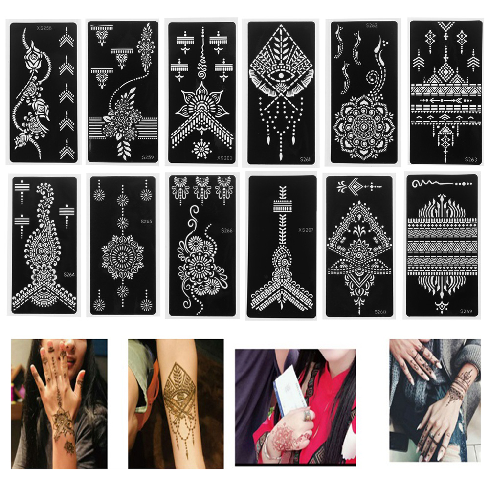 Hot Sale Fashion Diy Henna Tattoo Stencil Temporary Hand Tattoo Body Art Sticker Template Indian Wedding Painting Kit Tools Buy At The Price Of 0 66 In Aliexpress Com Imall Com