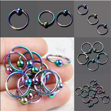 2PCS Steel Captive Hoop Bead Rings BCR Eyebrow Tragus Ear Piercing Nose Nipple Ring Tragus Helix Piercing Body Jewelry цена