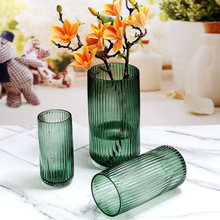Vase Simple Glass Nordic Style Creative Transparent Living Room Water Lily Rich Bamboo Flower Arrangement Decorations Home Decor