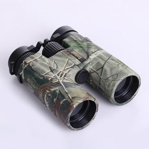camuflagem militar hd 10x42 binoculos caca profissional telescopio zoom visao de alta qualidade sem ocular