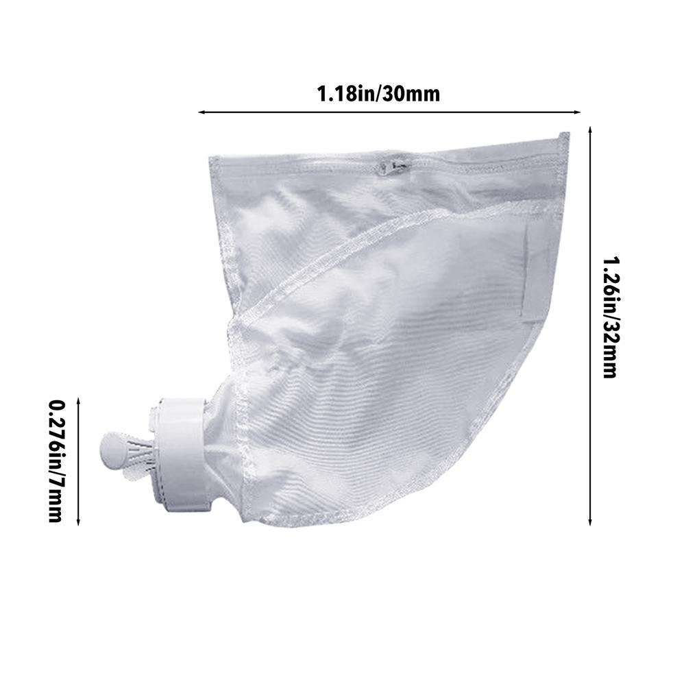 Купить с кэшбэком 2PC Pool Cleaner Filter Bag Useful Durable Zipper Replacement Bags Pouches Pool Vacuum Cleaner For Polaris 280 480 Model