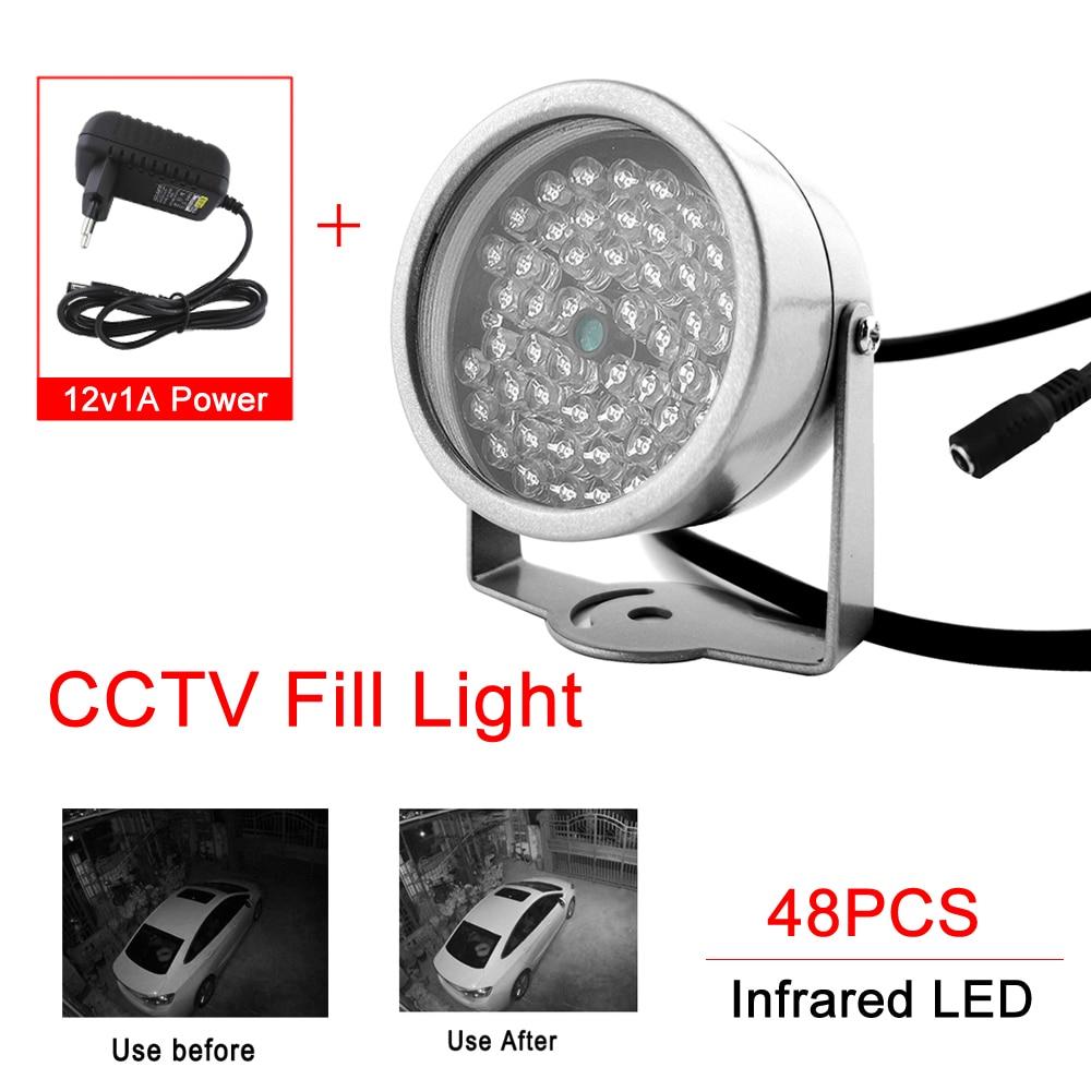 DC12V 48 светодиодный осветитель светильник 850nm 90 градусов Ночное видение светильник ing на открытом воздухе из водонепроницаемого CCTV заполняющ...