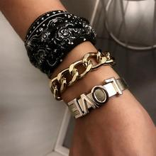 Europe jewelry personality hip-hop punk bracelet contracted leather bracelet with female combined packages luyun female personality jewelry glass bracelet snowdrop flower lucky bracelet wholesale