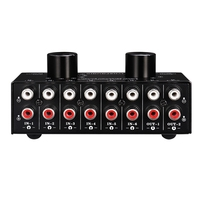 BESTSwitcher 6 in 2 Out or 2 in 6 Out Headphone Speaker Switcher Stereo Sound Source Signal Selection Switcher  Interface Adopts|Operational Amplifier Chips| |  -