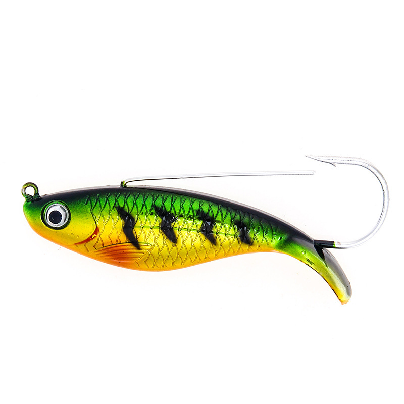 YUZI Fishing Lures Artificial Wobblers Lifelike Hard Baits VIB Bass Vibration Fish Tackle Hook Isca Pesca 8 5cm 21 2g in Fishing Lures from Sports Entertainment