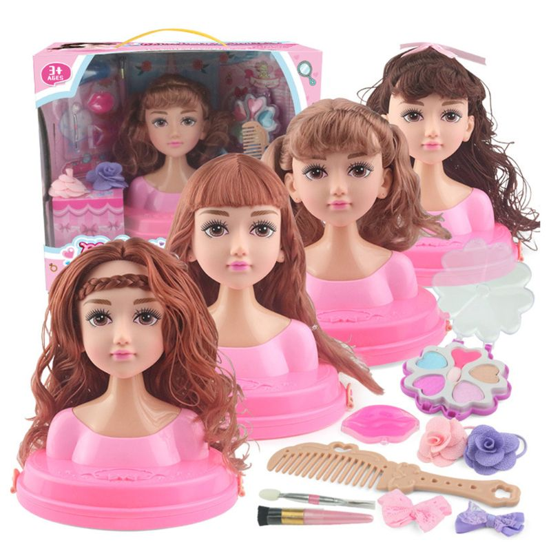 Children Pretend Play Kid Make Up Toys Set Hairdressing Simulation Cosmetic
