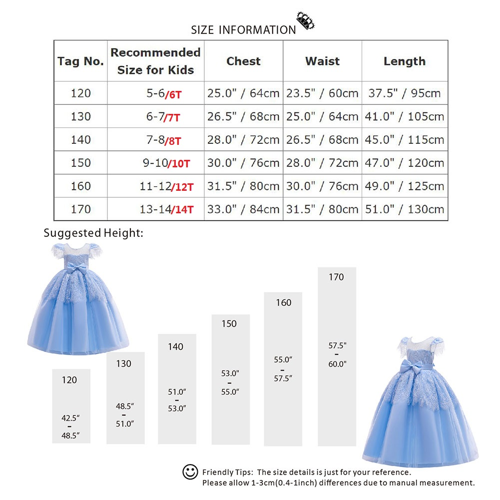 Ball Gown Princess Dress for Girls Flower Lace Pleated Long Dress Wedding Bridesmaid Dresses for Kids Cute First Communion Dress in Dresses from Mother Kids