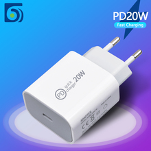 Byscoon PD 20W USB Type C Power Adapter Charger US EU Plug 9V 2.22A Fast Charger For iPad Pro Air iPhone 12 mini 11 Pro Max Xs X