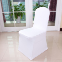 20 50 100 pcs Universal White Stretch Spandex Chair Cover Lycra Polyester Fabric Wedding Banquet Party Hotel Dining Chair Covers