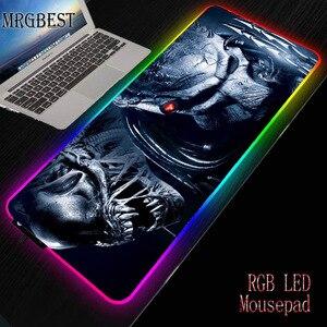 MRGBEST многоцелевой коврик для мыши, большой игровой USB светодиодный RGB коврик для мыши с подсветкой XL резиновый коврик CS Go для ПК и ноутбука
