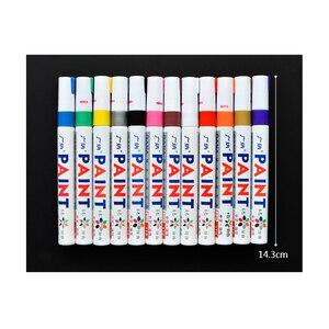 Цветная Водонепроницаемая ручка для протектора автомобильных шин, CD металлические перманентные маркер-краски, граффити, фломастер на масляной основе, marcador caneta канцелярские принадлежности
