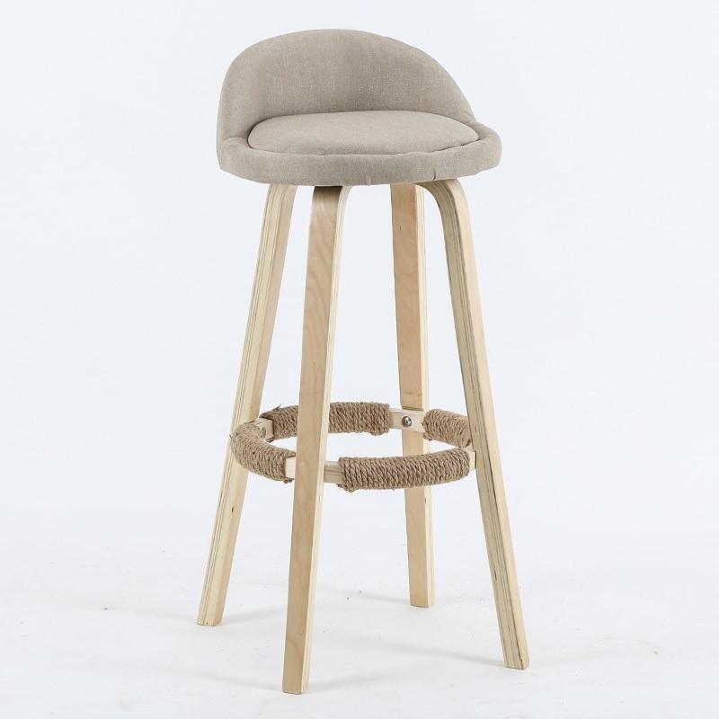 Desk Chair Modern Minimalist Bar Chair Home Solid Wood High Stool Fashion Bar Stool High Stool Front Desk Chair