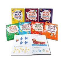 Attention and Intelligence Booster Etkinlikler Set 365 8 Book palmgren-3-6 Age