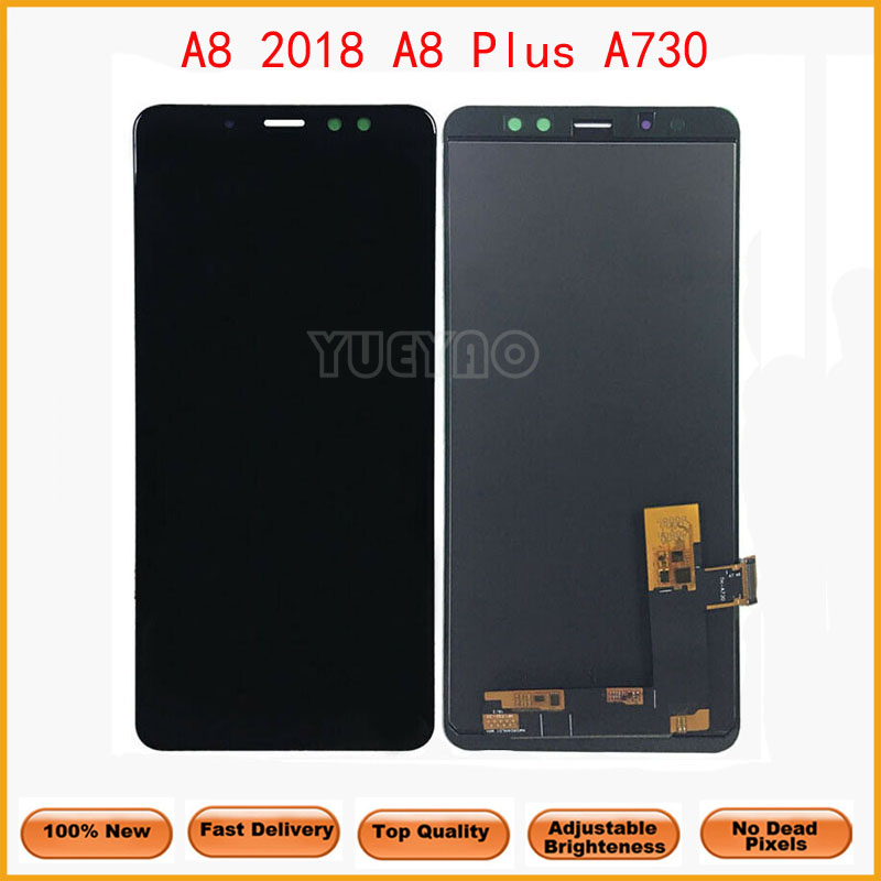 A730 LCD <font><b>Display</b></font> For Samsung Galaxy <font><b>A8</b></font> Plus <font><b>A8</b></font>+ <font><b>2018</b></font> Touch Screen Digitizer Assembly for A730F A730F/DS A730x Replacement Parts image
