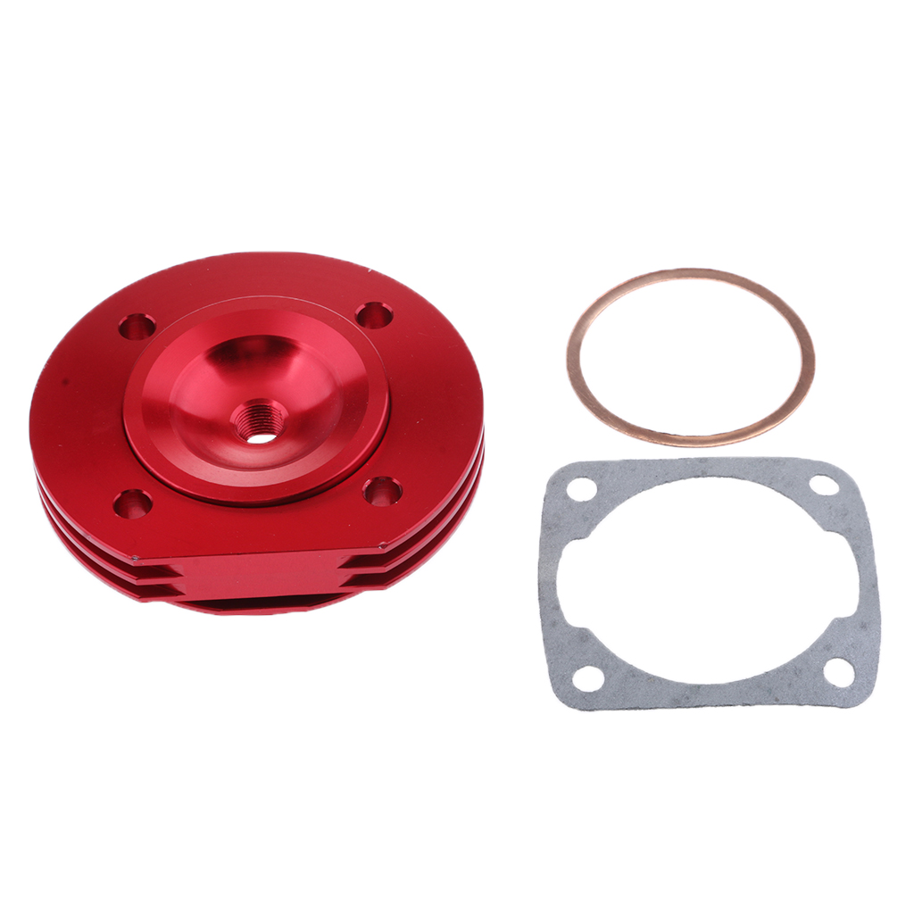 RED ENGINE CYLINDER HEAD COVER CASE CASING FOR 2 STROKE 47CC 49CC MOTORBIKE
