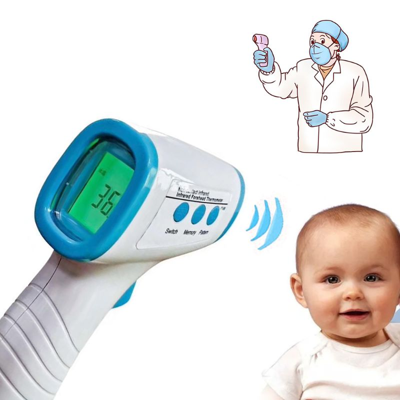 Thermometer,Non-Contact Infrared Forehead Ear Thermometer Digital Thermometer for Fever for Adult Child and Baby