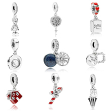 Winter Colletion 100% 925 Sterling Silver Snowflake Charm Fit Pandora Bracelet Beads For Jewerly Making Gift