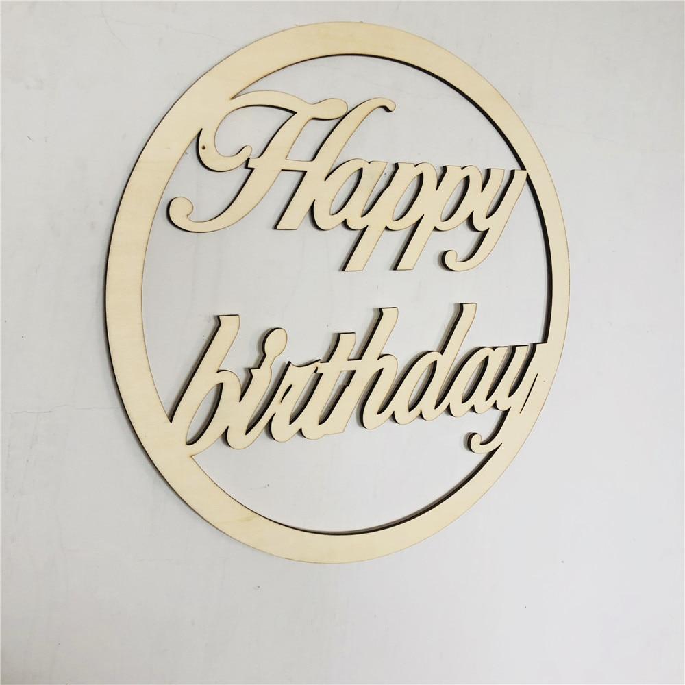 С Днем Рождения деревянный знак пользовательское имя деревянный знак лазерная резка, для свадьбы деревянный знак деревянный день рождения ...