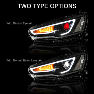 Image 4 - CNSUNNYLIGHT עבור מיצובישי לנסר EVO X 2008 2017 רכב פנס עצרת LED DRL הפעל אות קסנון HID מקרן עדשה תקע לשחק