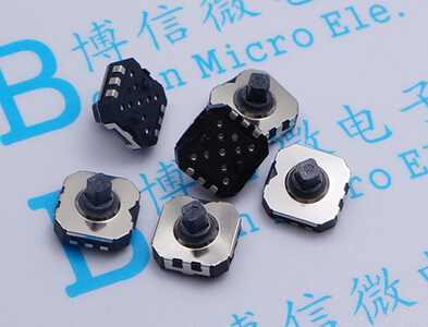 5Pcs/Lot Five Way Switch 7mm X 7mm 6 Pin 5 Way Momentary Push Button Switch PCB SMD SMT 7*7mm Tactile Switch