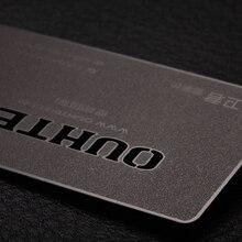 lidkaart visitekaartje frosted black