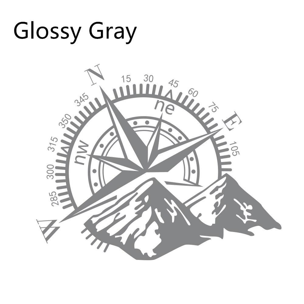 Боковые наклейки для автомобильной двери, виниловая пленка, авто украшение, наклейка для водонепроницаемого внедорожника, Ford Chevy, Стайлинг, автомобильные тюнинговые аксессуары - Название цвета: Glossy Gray