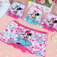 4 pz/lotto neonate mutandine intimo per bambini slip per bambini Cartoon Minnie Design Short Dancing Minnie Pattern intimo in cotone