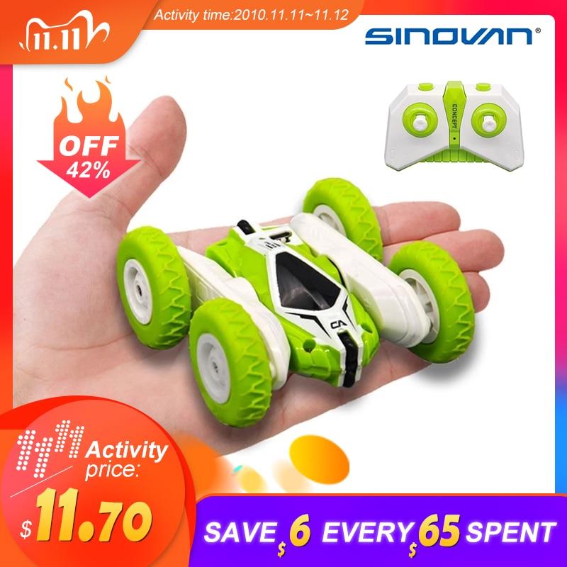 Sinovan Hugine-coche a control remoto para niños, 2,4G, 4 canales, coche con deformación de acrobacia, Rock Crawler Roll, coche de juguete con tapa de 360 grados
