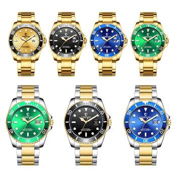 Wodoodporne zegarki kwarcowe obrotowe męskie zegarki na rękę zegarek ze stali nierdzewnej Business Casual zegarki na rękę dla biznesu sportowego tanie i dobre opinie Shellhard 20cm Moda casual QUARTZ 3Bar Składane zapięcie z bezpieczeństwem Stop 12 5mm Szkło Nie pakiet STAINLESS STEEL