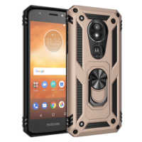 Shockproof Armor Bumper phone Case For MOTO G6 G7 E6 P40 Z4 E5 One Zoom Play Pro Plus Power Play Ring Stand Holder Back Cover