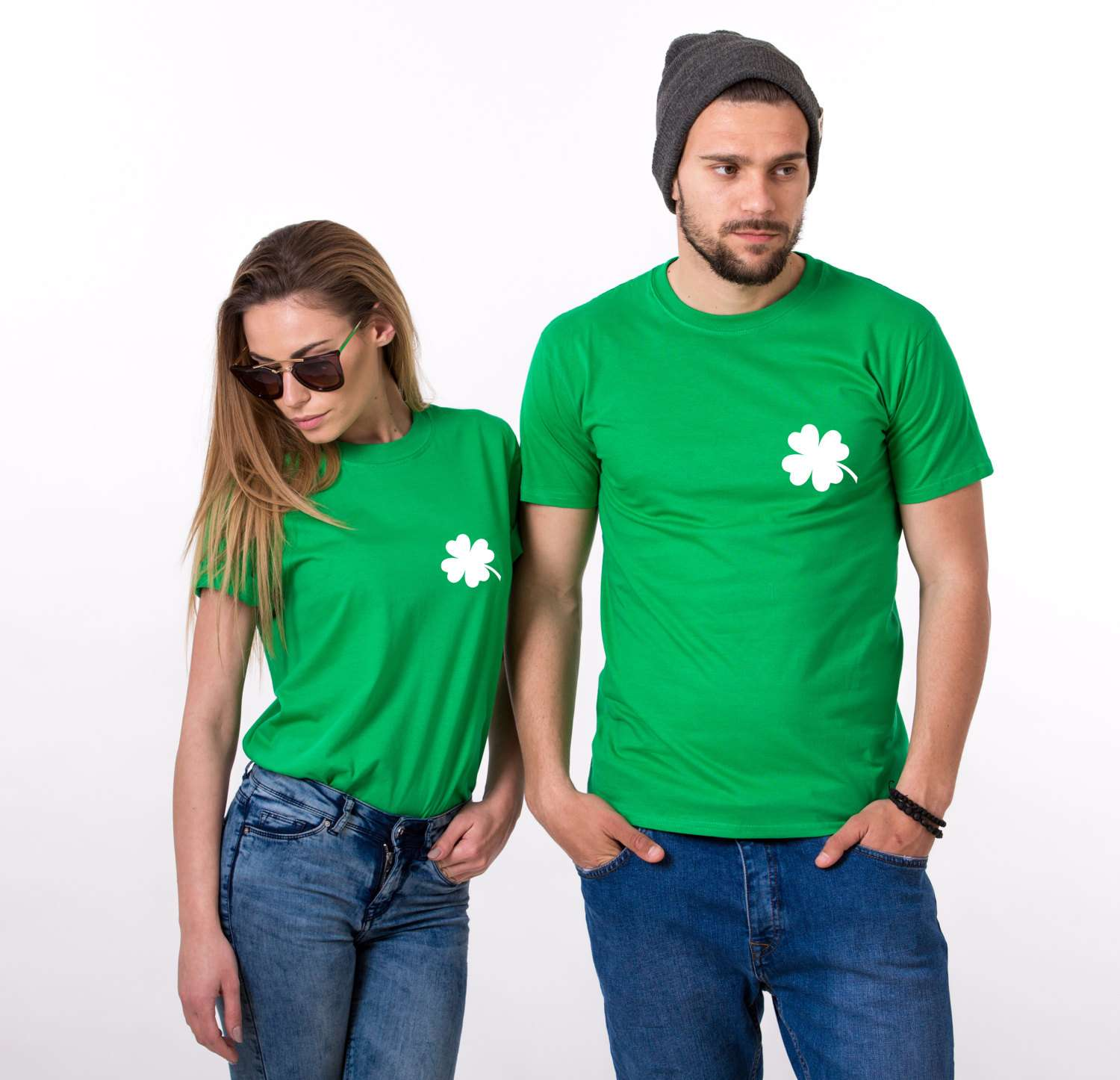 1pc St Patricks Day Family T Shirt Funny Shamrocks Printed Tops Saint Paddys Day Tshirt Irish Chest Clover Boobs Tee Mens Womens
