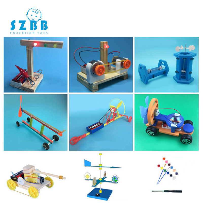 2019 Sale Rushed Sz Steam 9pcs Stem Education Kits Diy Kids Science Projects Experiment Physic Fun Toy Invention Innovation