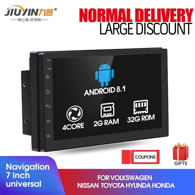 FM Umkehrung Universal Autoradio Navigation USB Garsent 7 2Din Bluetooth Autoradio Android 8.1 Toushscreen Multimedia MP5 Player Unterst/ützung GPS TF RDS-Radio