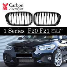 1 Pair ABS Kidney 1-Slat/ 2-Slat Grille for BMW Series F20 F21 LCI Front Bumper  Glossy balck /Matte Grill 2015-IN