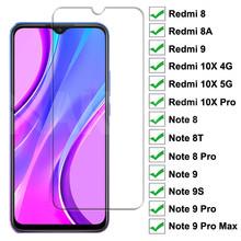 Szkło hartowane 9H dla Xiaomi Redmi 9 8 8A 10X szkło hartowane Redmi 10X uwaga 8 8T 9S 9 Pro Max szkło ochronne tanie tanio NAKPOE CN (pochodzenie) Przedni Film Redmi Note 9S Anti-Blue-ray Telefon komórkowy 9H Tempered Glass For Xiaomi Redmi 9
