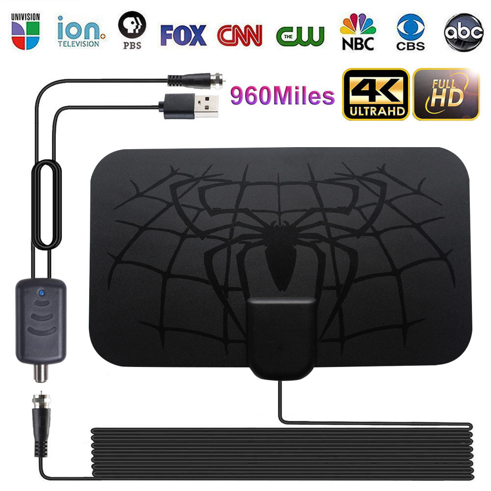 Indoor 960 Miles Digital Antenna TV Amplifier Signal Booster DVB-T2 HDTV Antenna Clear Satellite Dish Receiver VH99