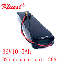 KLUOSI 10S3P 36V 10.5Ah 10Ah 36V Battery 42V Lithium Battery Pack for Xiaomi Mijia M365 Pro Ebike Bicycle Scooter with 20A BMS