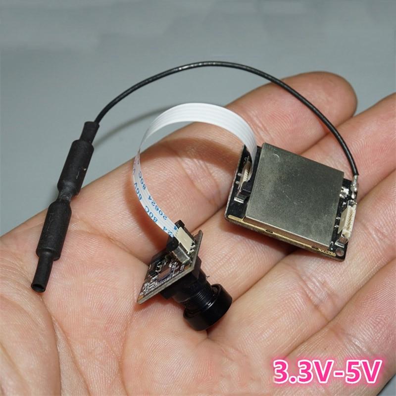 1PCS FPV 5.8G Wireless Mini Camera+Transmitter Board Kit Image Transmission Module Analog Signal Parts For RC Drone