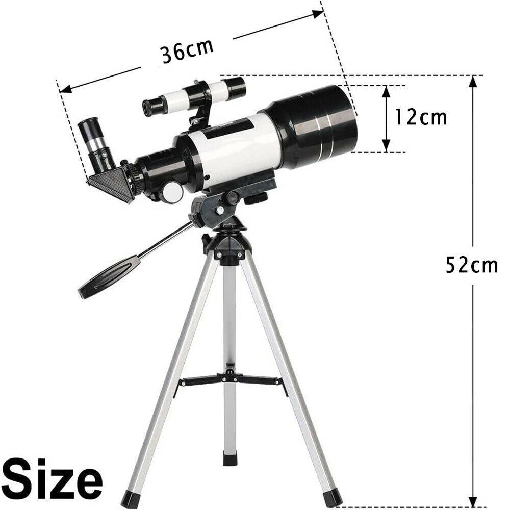 Telescópio astronômico f30070 150x zoom hd ao