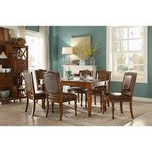 Мебель для столовой, набор столов, 6 стульев, белая мебель, набор 6 стульев WA644