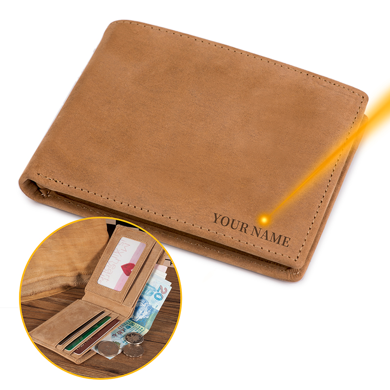 2019 Carteira Classic Genuine Leather Wallet Men With Coins Pocket Card Holder Accept Logo And Gift Box