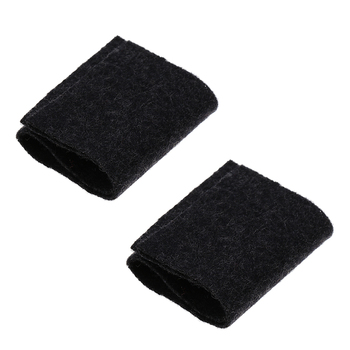 Portable 2Pcs Black Chinese Erhu Mute Silencer Pads Silencing Mats 15.3 x 4.4cm image